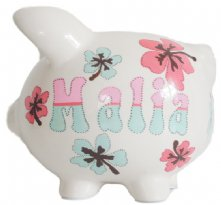 Piggy Bank Flowers Mood
