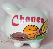 Classic Sports Piggy Bank