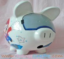 Astronaut piggy bank Mario Bross