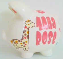 Little Jungle - Personalized piggy bank for kids
