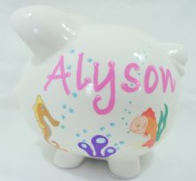 Sea Life Creatures - Personalized piggy bank for kids