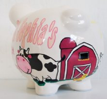 Cowboy Animals Personalized piggy bank for kids
