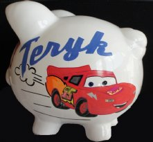 Disney Cars Personalized Piggy Bank