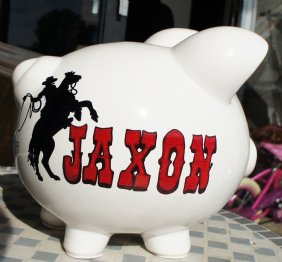 Cowboys Rodeo Personalized Piggy Bank