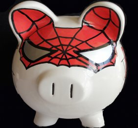 The Amazing Spider-Pig Piggy Bank