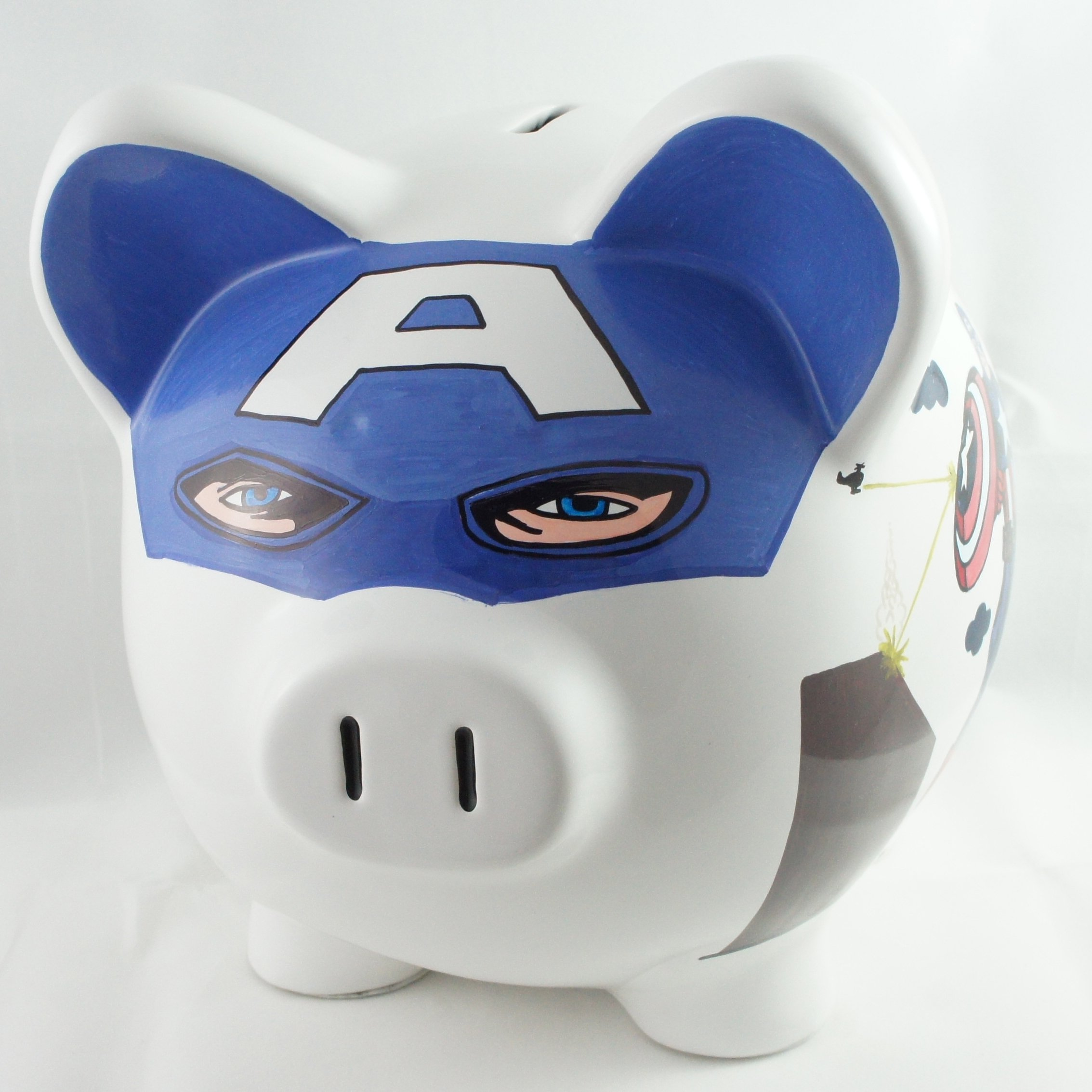 Captain America Piggy Bank - NanyCrafts