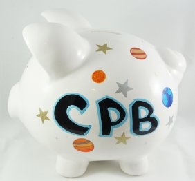 Out of Space Personalized piggy bank for kids