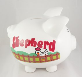 My Farm Personalized piggy bank for kids