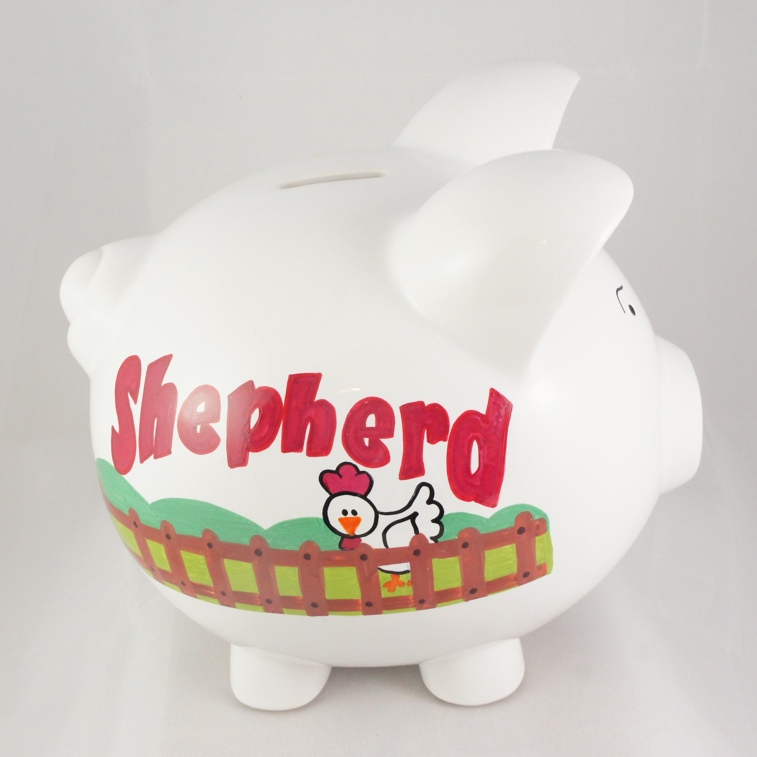 My Farm Personalized Piggy Bank For Kids Nanycrafts