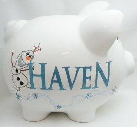 Frozen Theme Piggy Bank Queen Elsa