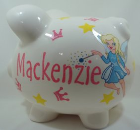 Fairies World personalized Piggy Bank