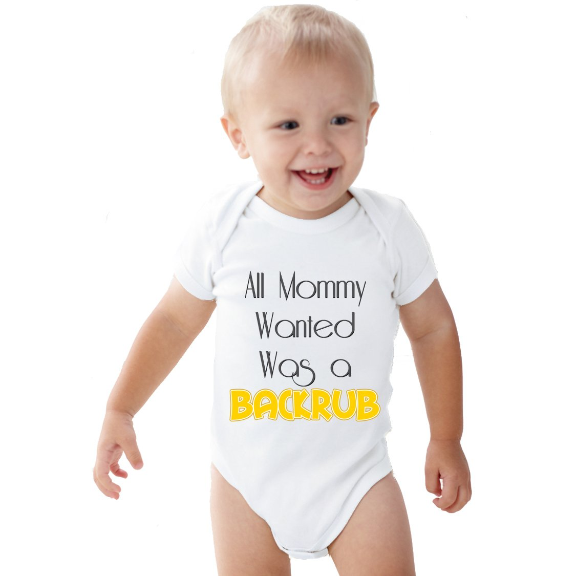 All Mommy Wanted Backrub Baby Onesie Nany Crafts