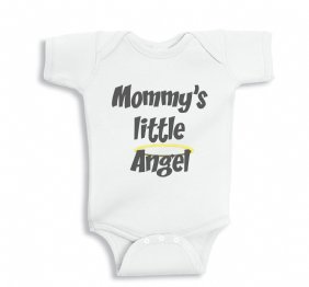 Mommy Little Angel - Baby Onesie
