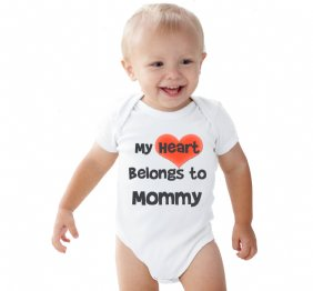 My Heart Belongs to Mommy - Bay Onesie