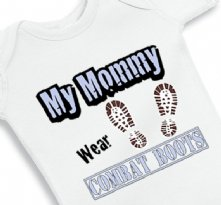 My Mommy Wear Combat Boots - Baby Onesie