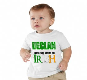 Even My Name is Irish Personalized Baby Onesie