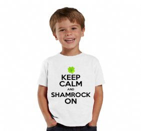 Keep Calm and Shamrock On baby bodysuit or kids Shirt