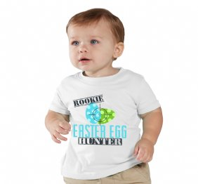 Rookie Easter Egg Hunter - Personalized Baby Onesie