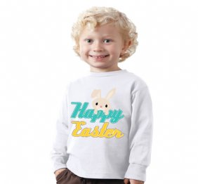 Happy Easter Baby Bunny Bodysuit or Kids Shirt