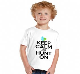 KEEP CALM AND HUNT ON Easter Baby Bodysuit or Kids Shirt