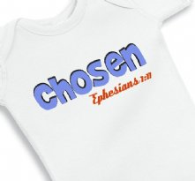 Chosen Ephesians 1:11 Faith Onesie Baby Boy