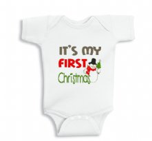 It is my first christmas snowman onesie