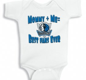 Mommy and Me Best Mavs fans ever - Baby Onesie