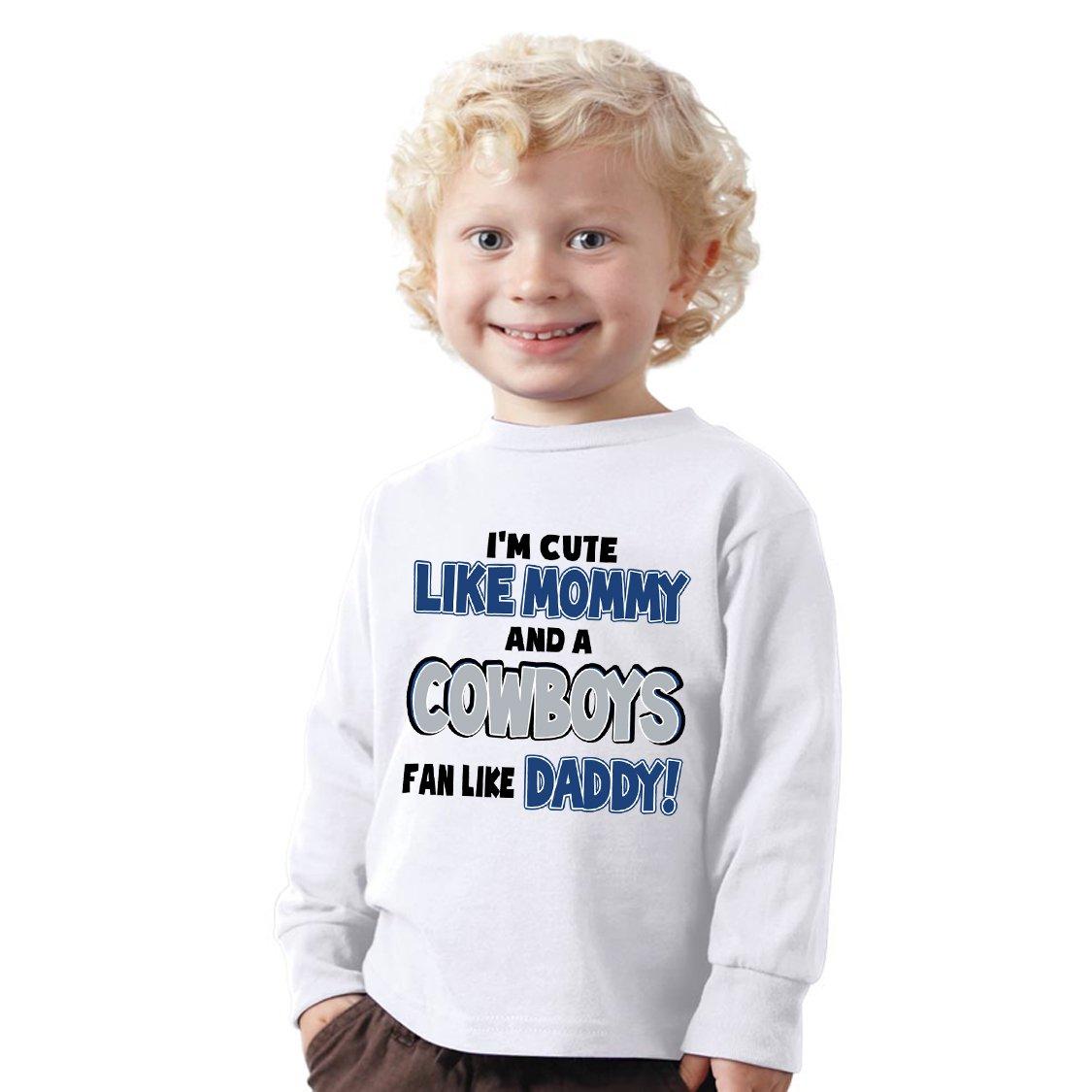 b57de67fc I m Cute like Mommy and a COWBOYS fan like Daddy Shirt - NanyCrafts