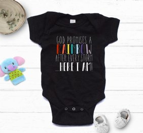 God Promises a Rainbow after every storm - Baby Bodysuit
