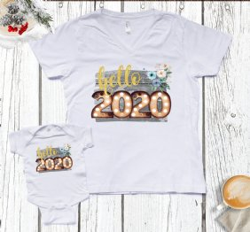 Hello 2020 - Mom Baby Matching Set