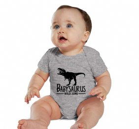 Babysaurus baby Heather bodysuit or T-shirt
