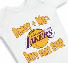 Daddy and Me Best Lakers Fans Ever - Baby Onesie