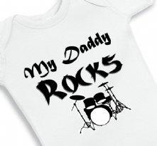 My Daddy Rocks - Baby Onesie