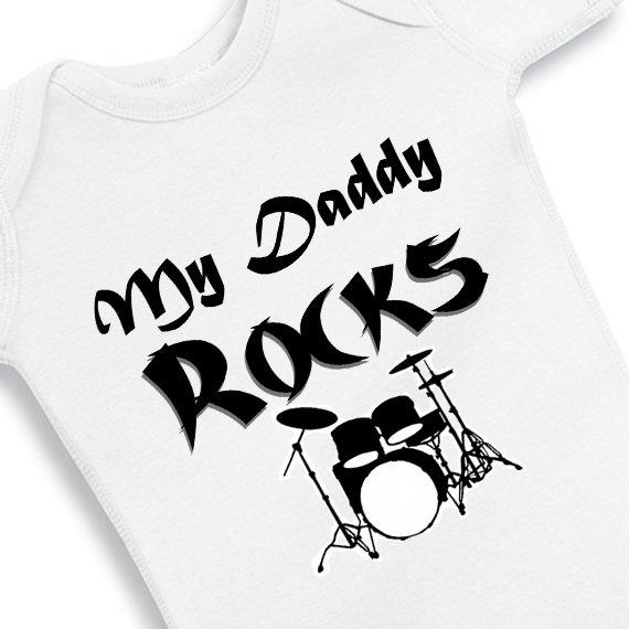 My Daddy Rocks Baby Onesie Baby Bodysuit Nanycrafts