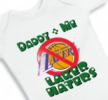 Daddy and Me Laker Haters - Baby Onesie