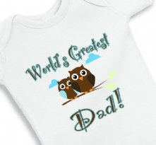 World Greatest Dad Baby Onesie