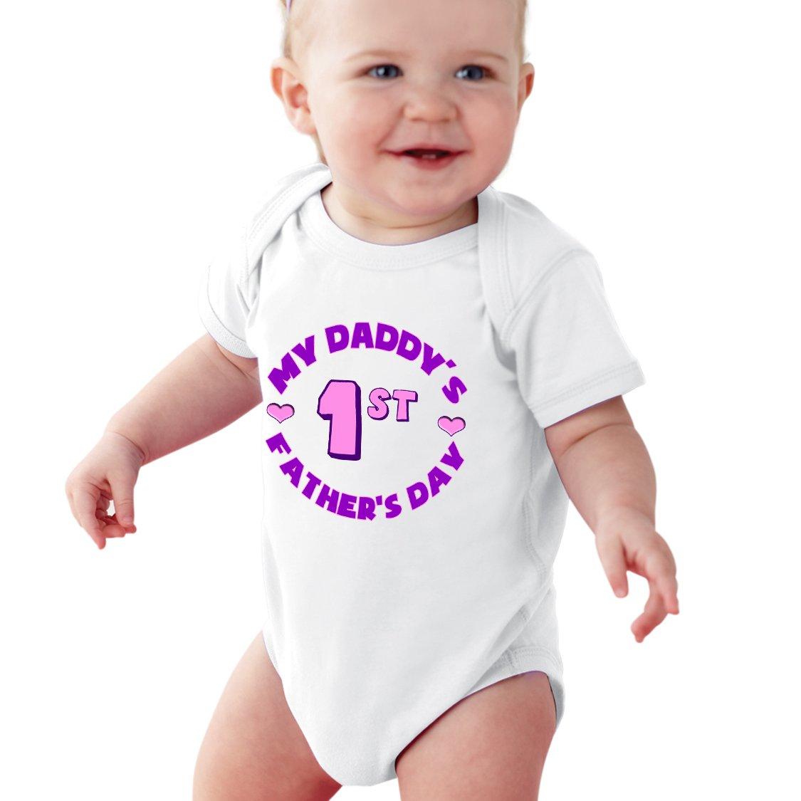 My Daddys 1st Fathers Day Baby Girl Onesie NanyCrafts