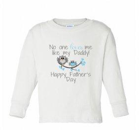 c2b7ac7b3 No one loves my like my Daddy Happy Father s day Baby Boy Bodysuit or Kids  Shirt - NanyCrafts