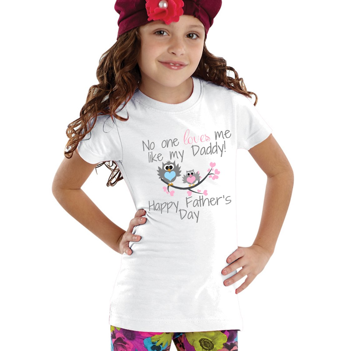 3365326a No one loves my like my Daddy Happy Father's day Baby Girl Bodysuit ...