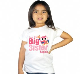 Personalized Big Sister Nautical Owl Shirt