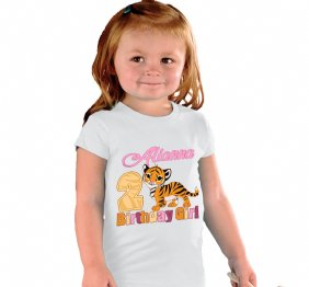 Personalized Tiger Birthday Girl Shirt