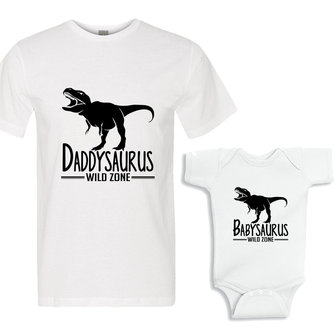 149e0ca5 Daddysaurus - Babysaurus Shirts Daddy and Me Matching Shirt Set ...