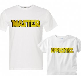 Master - Apprentice Daddy and Me Matching Shirt Set