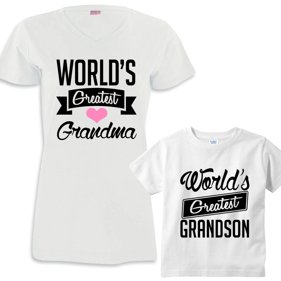 world s greatest grandma world s greatest grandson matching shirt