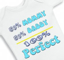 50 Mommy 50 Daddy - Baby Onesie