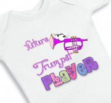 Future Trumpet Player - Funny Baby Girl Onesie