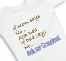 If Mom Says no Ask Grandma - Baby Onesie