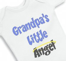 Grandpa little angel - Baby Onesie