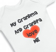 My Grandma and Grandpa loves me - baby onesie