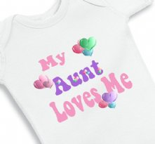 My Aunt Loves Me - Baby Onesie